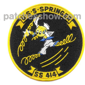 Ss-414 Uss Springer Patch Military Tactical Patches Embroidered Sew On Or Iron On Velcro Usa