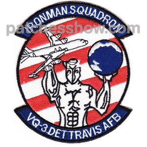 Vq-3 Det Travis Afb Patch Military Tactical Patches Embroidered Sew On Or Iron On Velcro Usa