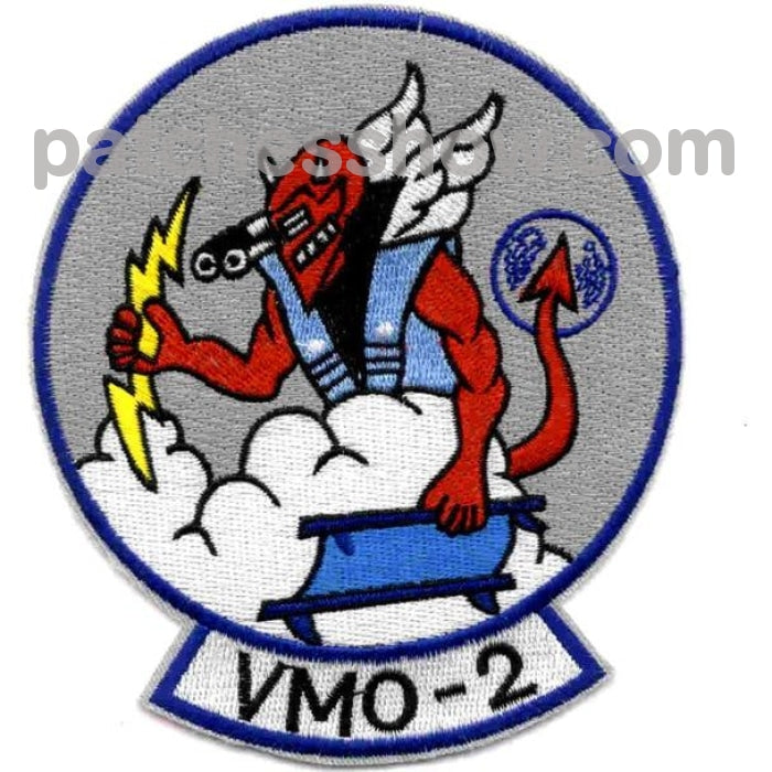 Vmo-2 Us Marine Corps Observation Squadron Patch Devil Military Tactical Patches Embroidered Sew On
