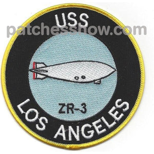 Zr-3 Uss Los Angeles Patch Military Tactical Patches Embroidered Sew On Or Iron On Velcro Usa