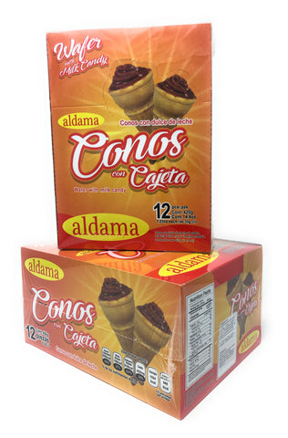 Conos de Cajeta / Wafer with candy milk