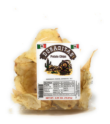 One of our favorite snacks is the Doraditas for its natural potato flavor with a touch of salt and crispy when chewing with a little bit of Salsa and Lemon nothing better for an afternoon to spoiled yourself.