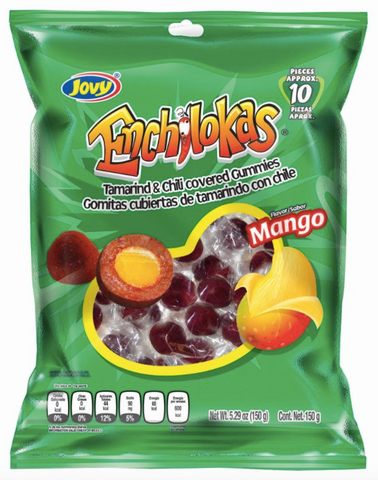 Enchilokas are Tamarind & chili covered gummy balls. They are available in Mango flavor. Prefect pocket snacks.