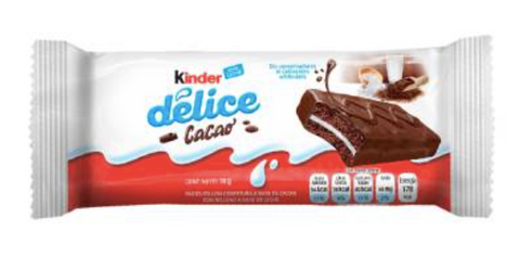 Kinder Délice that offers you cupcake with cocoa-based coverage and a delicious milk-based filling, ideal to enjoy during the day.