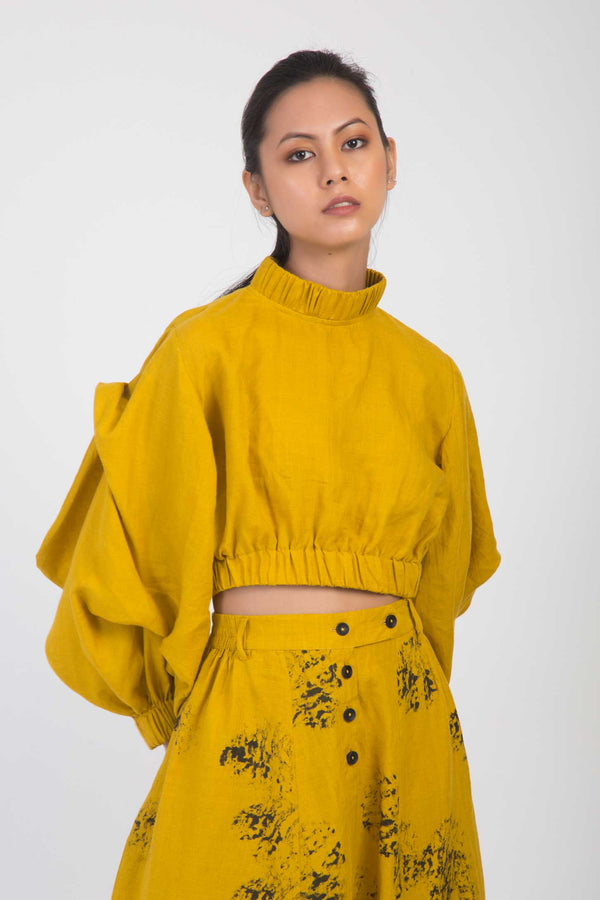 Clara Balloon Crop Shirt