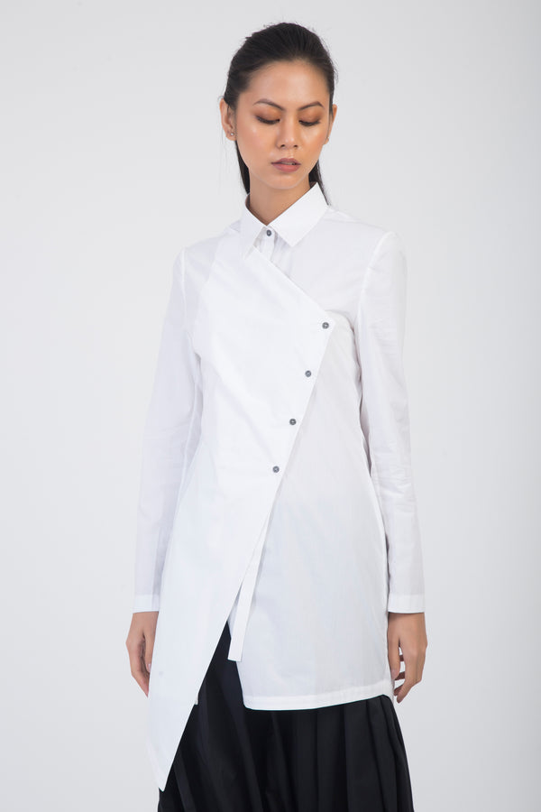 Riku Asymmetrical Placket Shirt