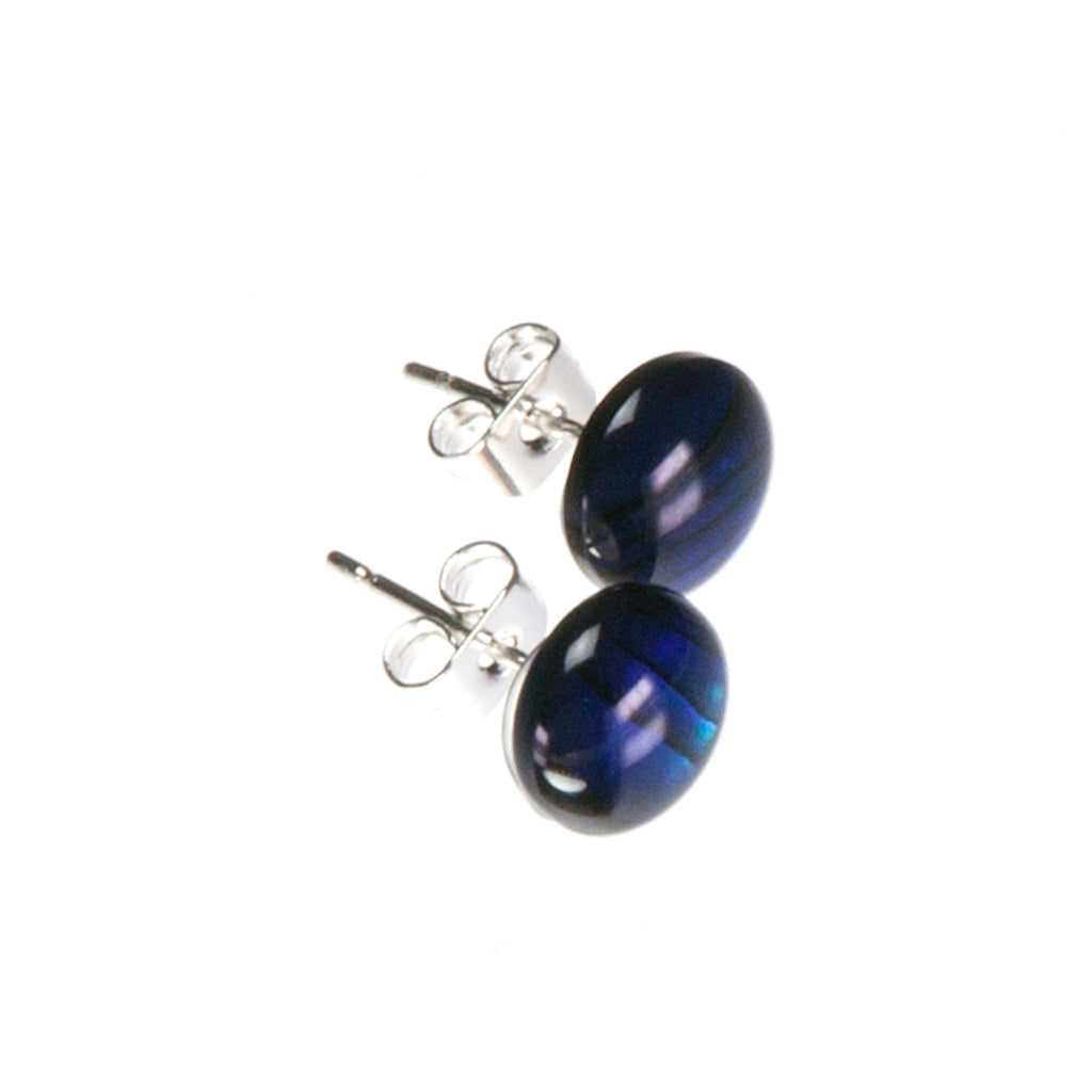 Blue Abalone Stud Earrings