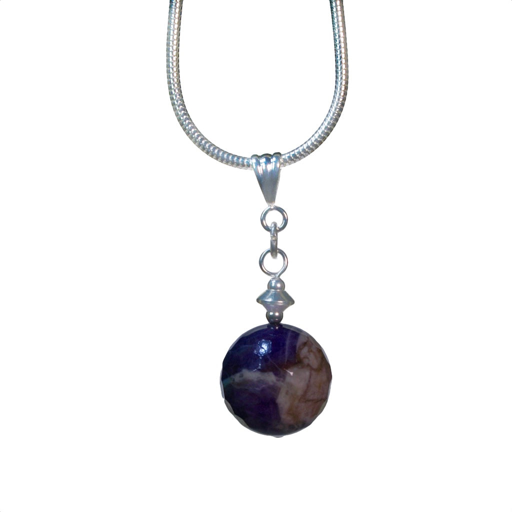 Globe Amethyst Necklace