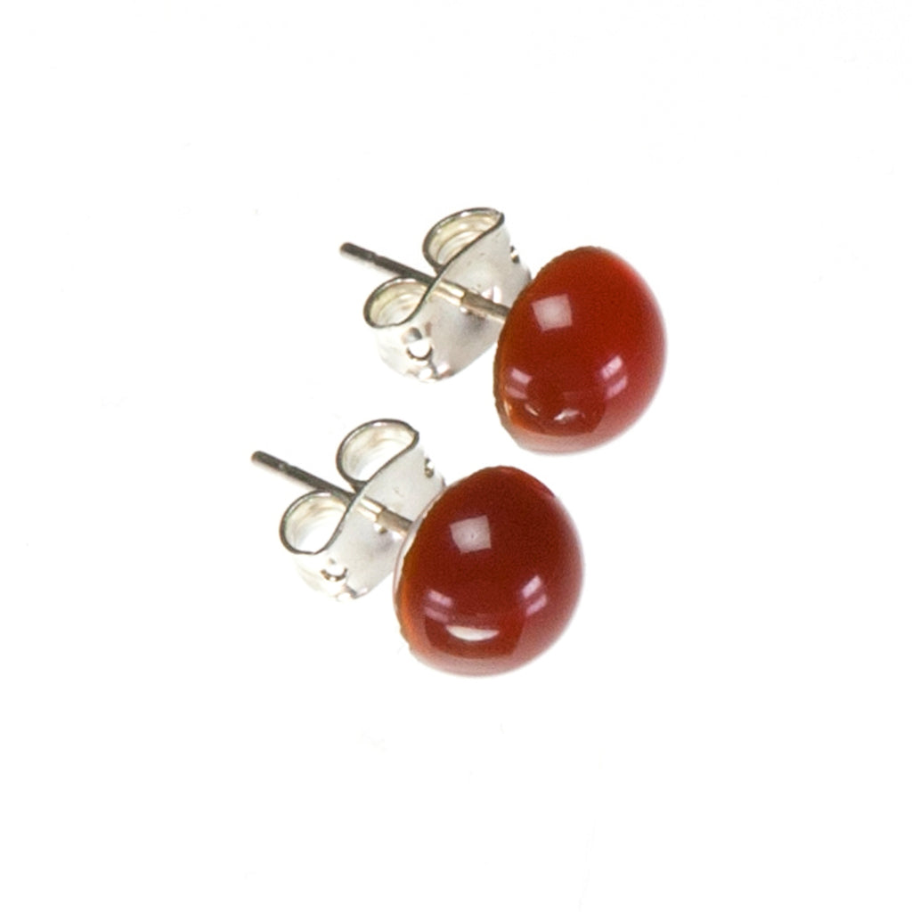 Carnelian Orange Stud Earrings