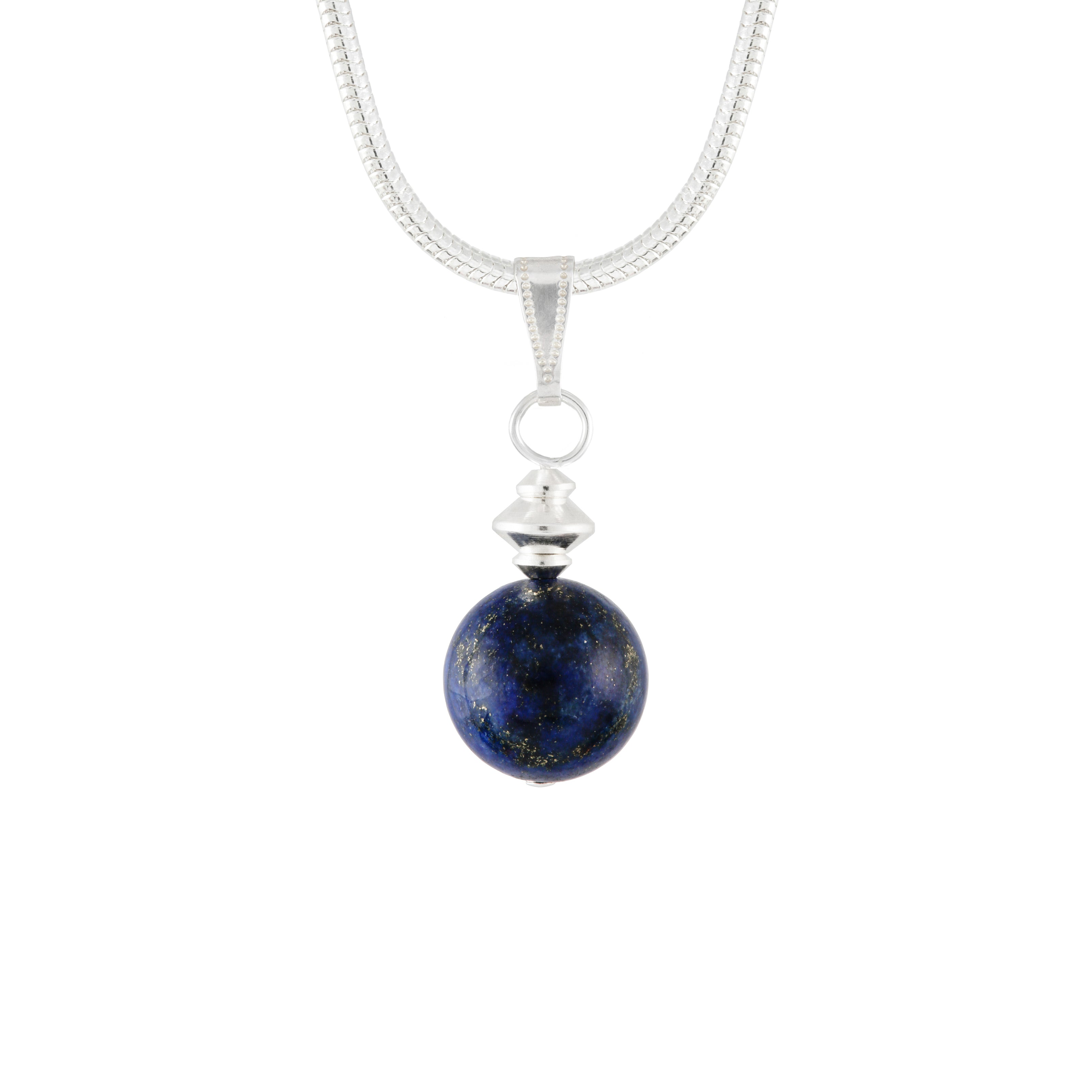 Lapis Lazuli Blue small round necklace