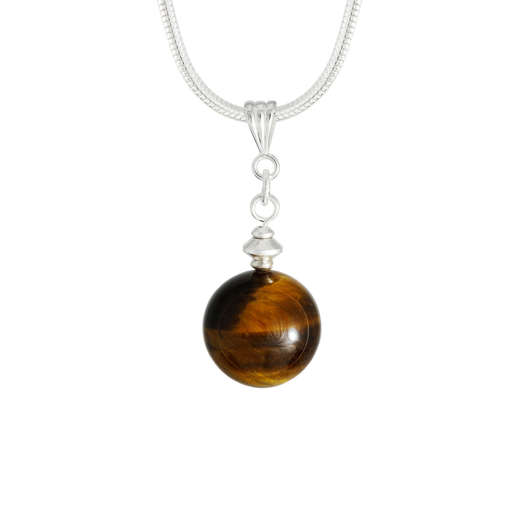 Golden Brown Tiger's Eye Gemstone Necklace