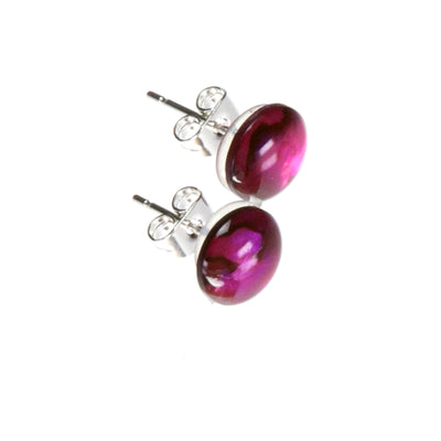 Pink Abalone Shell Stud Earrings
