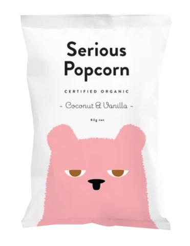 serious popcorn coconut and vanilla