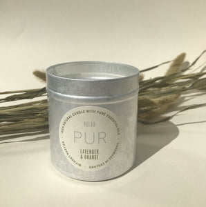 RELAX Tin Candle - PUR Candles
