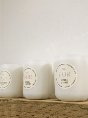 RELAX single wick candle - PUR Candles