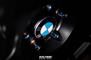 MUSE Japan BMW Titanium Wheel Bolts Set