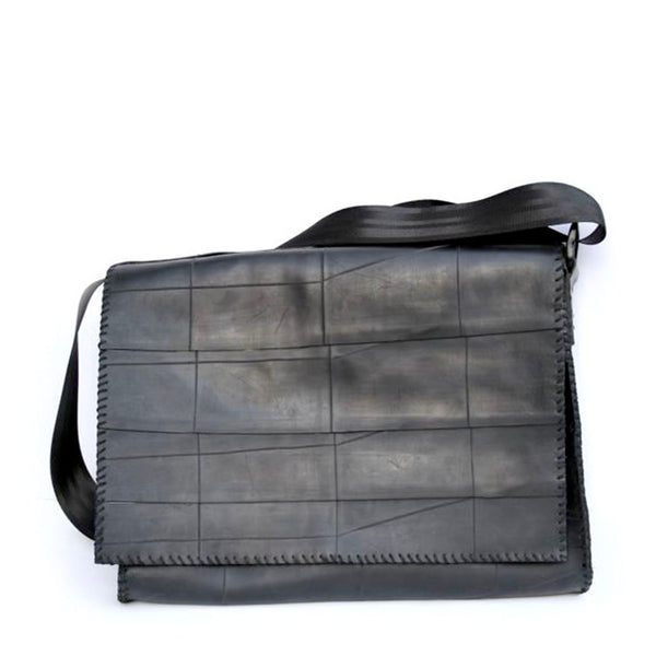 Large Patched Messenger Bag