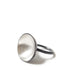 Charcoal & Silver Bowl Domed Ring