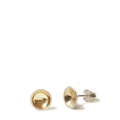Silver & Gold Domed Earrings