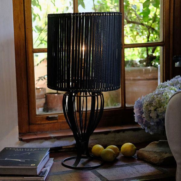 Up-cycled Handwoven Rubber Lampshade