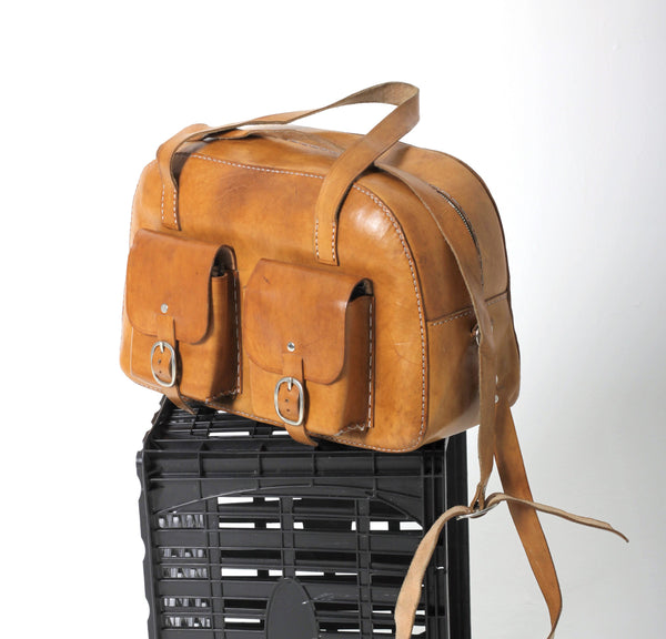 Caramel Leather Office Bag
