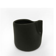 Matt Black Pinch Handle Mugs - Set of 6