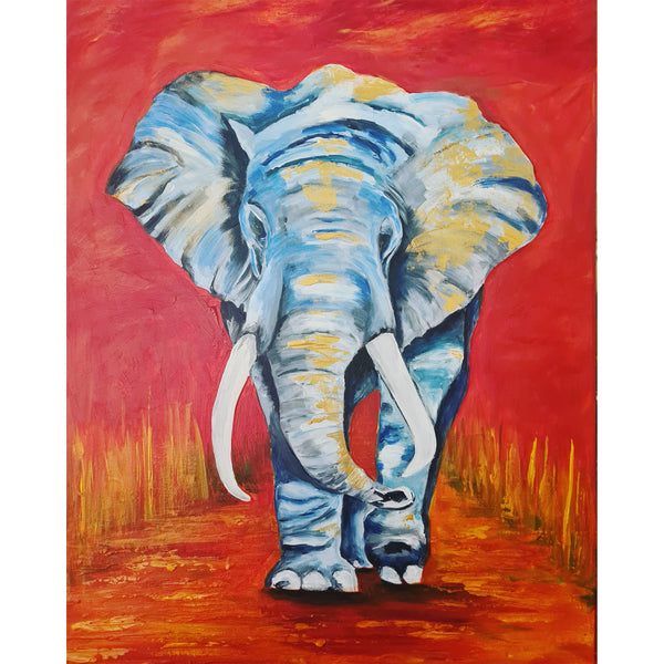 Elephant on Red