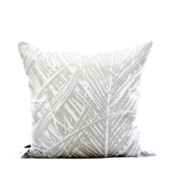 Silver Leaf Print Cushion