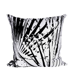 Black Fan Print Cushion