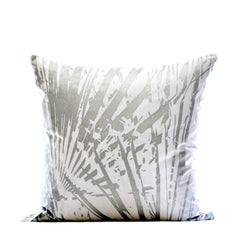 Silver Fan Print Cushion