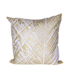 Gold Leaf Print Cushion