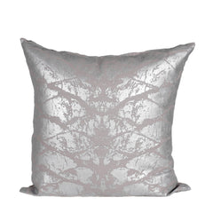 Silver Bark Print on Grey Cushion