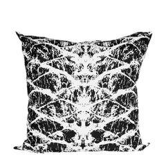 Black Bark Print Cushion