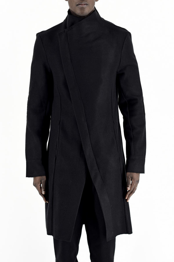 Melton Asymmetric Coat