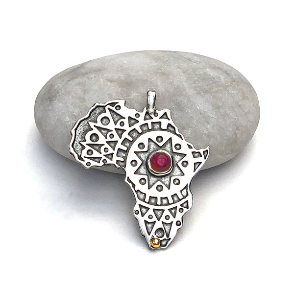 Sterling Silver Africa Pendant