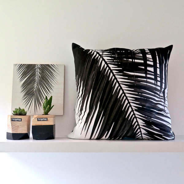 Black Palm Cushion