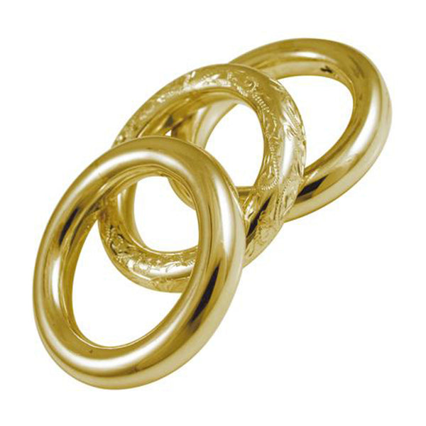 Three Sisters Brass Rings