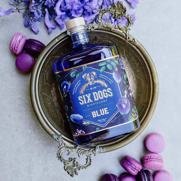 Six Dogs Blue Gin