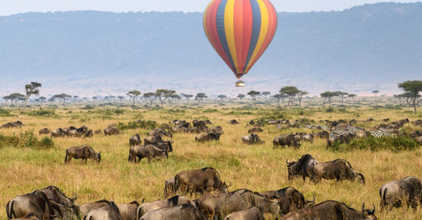 Hot Air Balloon over the Maasai Mara Savannah