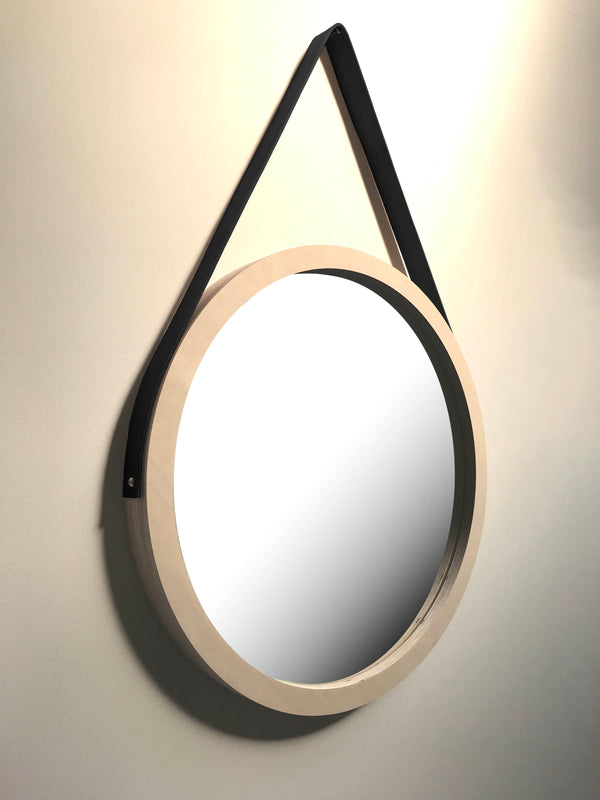 Porthole Mirror with Leather Strap