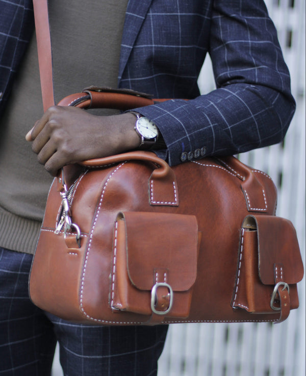 Tan Leather Office Bag
