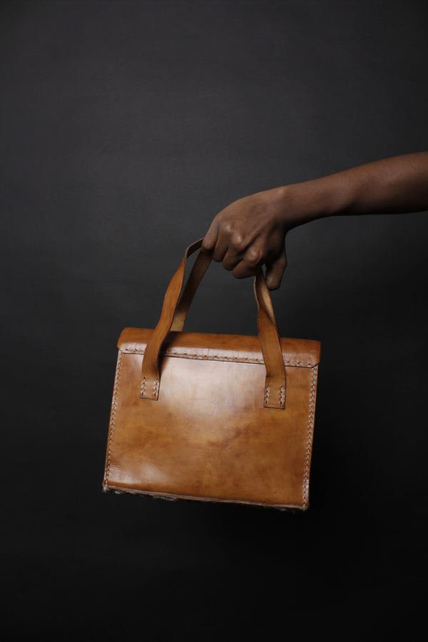 African Nguni Leather Bag