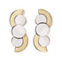 Gold Art Deco Curve Earrings