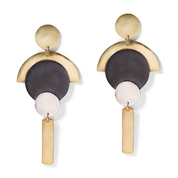 Sleek Art Deco Earrings