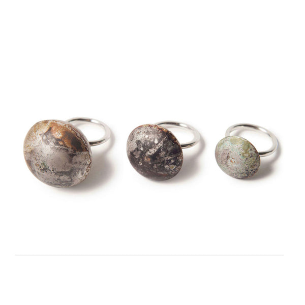 Rustic Silver Full Domed Ring