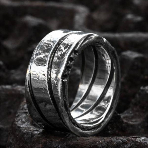 Spiral Oxidised Finish Silver Ring