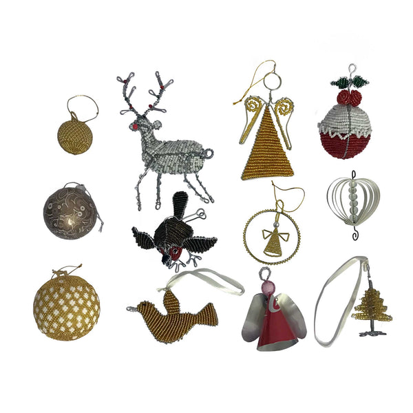 Festive Gold Tree Ornament Set