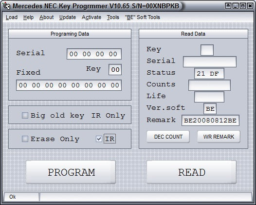 NEC KEY PROGRAMMER V.10.65 - Software Update