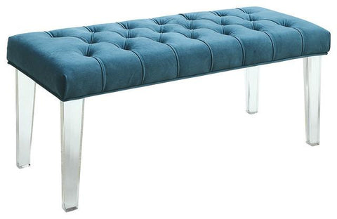 Mahony Upholstered Bench With Acrylic Legs