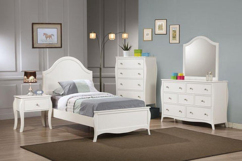 Dominique White 4 Piece Bedroom Set